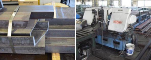 バンドソーでの切断は勿論、プレスカッター、レーザー切断、複合機、プラズマ切断、ガス溶断、アイトレー サーなど様々な切断設備を取り揃えています
